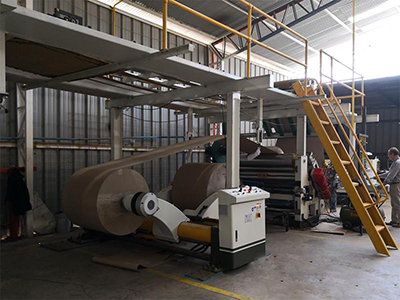 Single Facer Overhead Conveying System